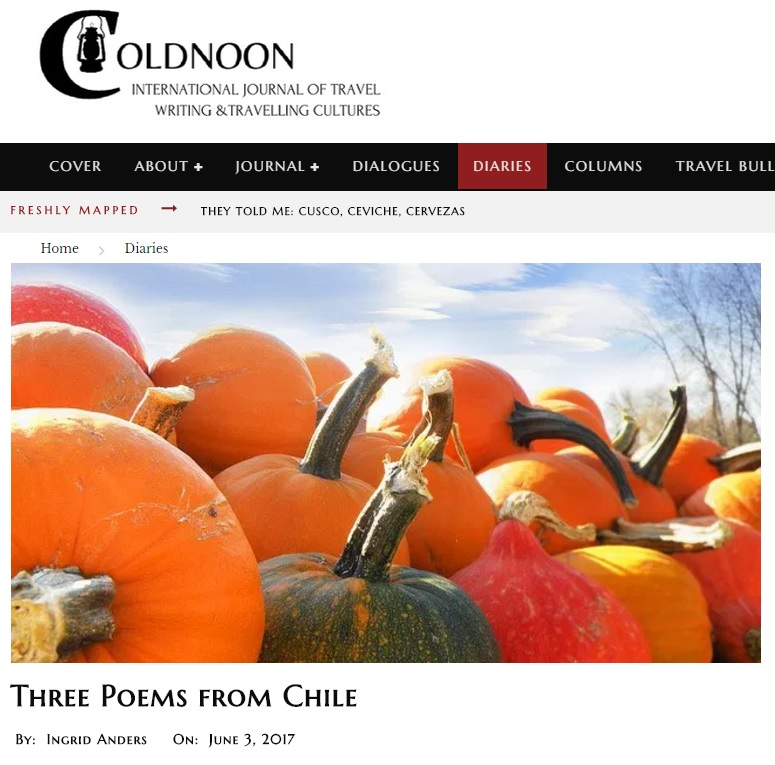 Three Poems from Chile in Coldnoon cover image
